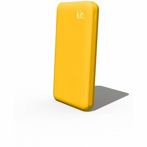 KIT FRESH Powerbank 6000mAh 2,1A 1xUSB indicator Gul