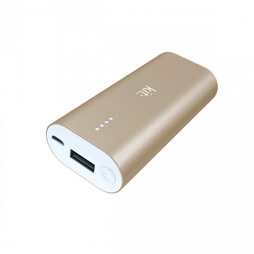 KIT Powerbank 6000 mAh Premium Guld Aluminium