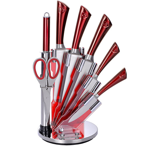 Royalty Line 8pcs Stainless Steel Knife set with Rotating stand
