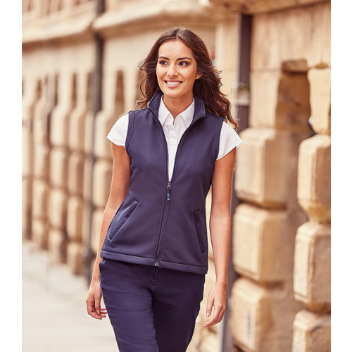 Russell Ladies Smart Soft Shell Gillet French Navy