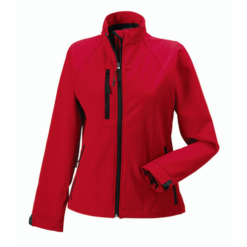 Russell Ladies Soft Shell Jacket Classic Red