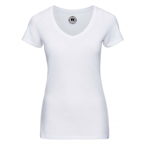 Russell Ladies´ V-Neck HD Tee White