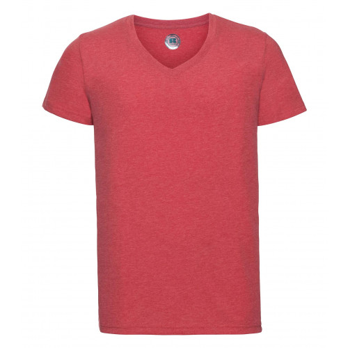 Russell Men´s V-Neck HD Tee Red Marl