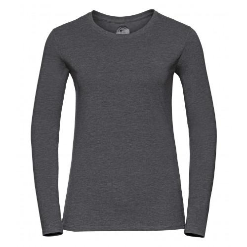 Russell Ladies´ Long Sleeve HD Tee Grey Marl