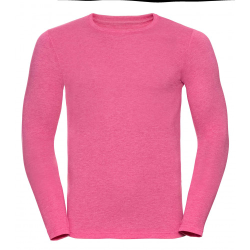 Russell Men´s Long Sleeve HD Tee Pink Marl