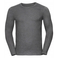 Russell Men´s Long Sleeve HD Tee Grey Marl