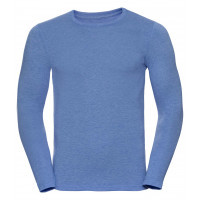 Russell Men´s Long Sleeve HD Tee Blue Marl