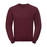 Russell Authentic Melange Sweat Burgundy Melange