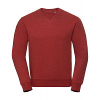 Russell Authentic Melange Sweat Brick Red Melange