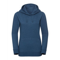 Russell Ladies Authentic Melange Hooded Sweat Ocean Melange