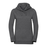 Russell Ladies Authentic Melange Hooded Sweat Carbon Melange