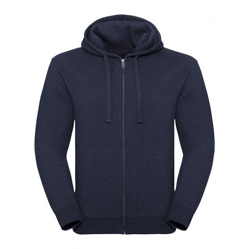 Russell Men´s Authentic Melange Zipped Hood Sweat Indigo Melange