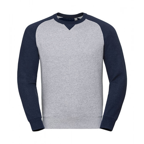 Russell Authentic Baseball Sweat Light Oxford/Indigo Melange
