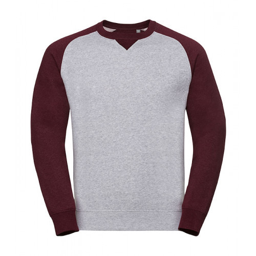Russell Authentic Baseball Sweat Light Oxford/Burgundy Melange