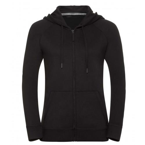 Russell Ladies´ HD Zipped Hood Sweat Black