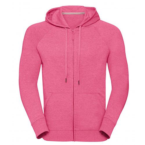 Russell Men´s HD Zipped Hood Sweat Pink Marl