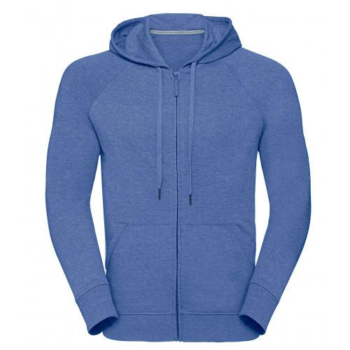 Russell Men´s HD Zipped Hood Sweat Blue Marl