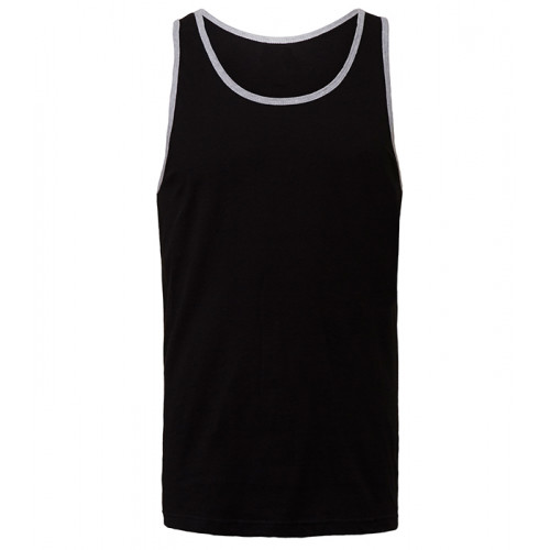 Bella Canvas Unisex Jersey Tank Black/Athletic Heather