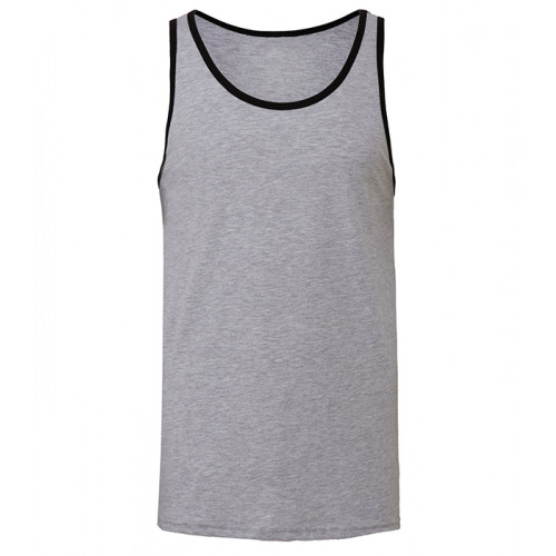 Bella Canvas Unisex Jersey Tank Athletic Heather/Black