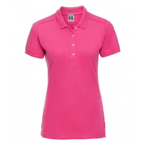 Russell Ladies´ Stretch Polo Fuchsia