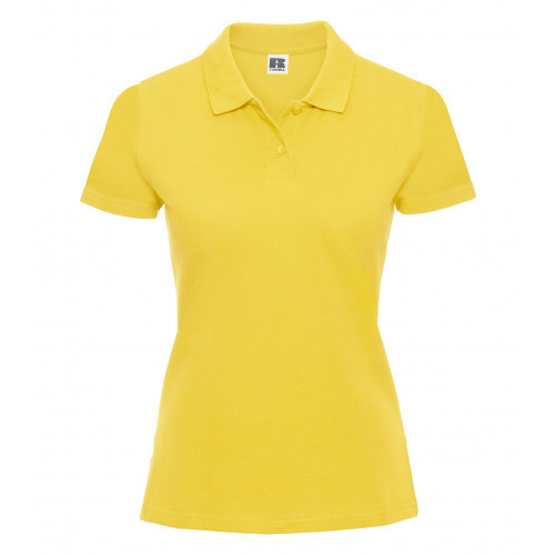 Russell Ladies Classic Cotton Polo Yellow