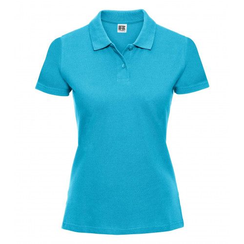Russell Ladies Classic Cotton Polo Turquoise