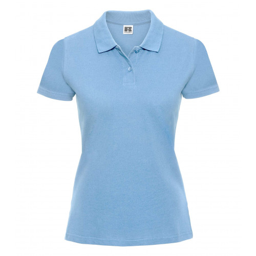Russell Ladies Classic Cotton Polo Sky