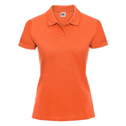 Russell Ladies Classic Cotton Polo Orange