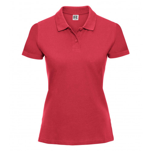 Russell Ladies Classic Cotton Polo Classic Red