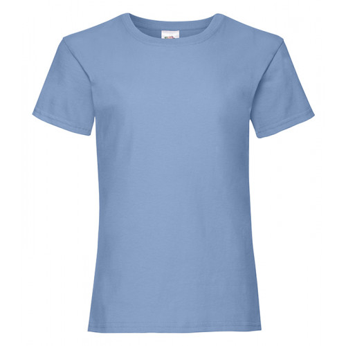 Fruit of the loom Girls Valueweight T Sky Blue