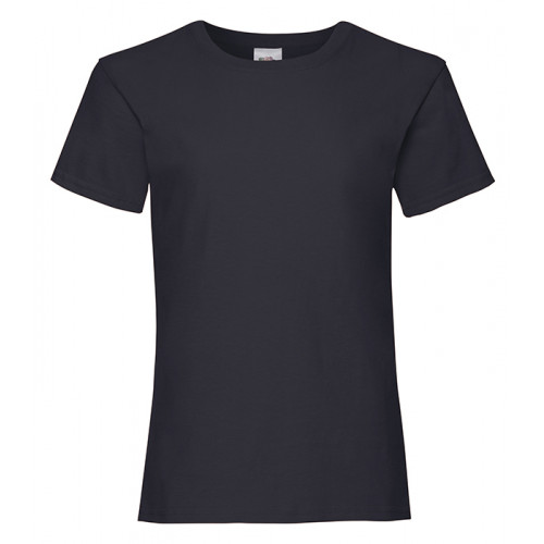 Fruit of the loom Girls Valueweight T Deep Navy