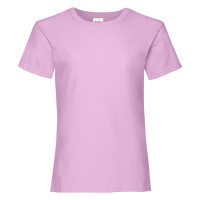 Fruit of the loom Girls Valueweight T Light Pink