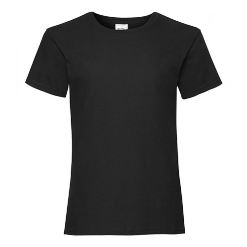 Fruit of the loom Girls Valueweight T Black