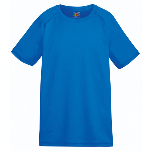 Fruit of the loom Kids Performance T Royal Blue