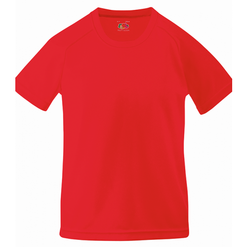 Fruit of the loom Kids Performance T Red