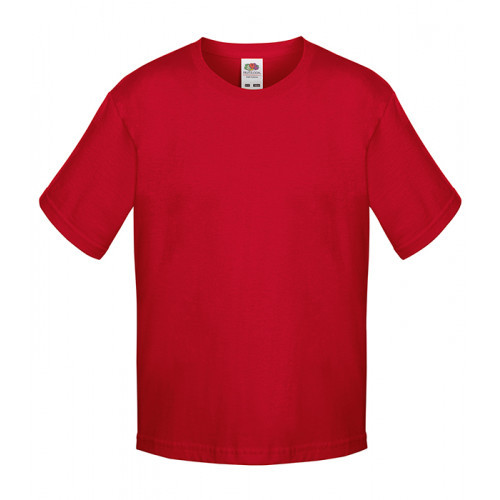 Fruit of the loom Kids Sofspun T Red