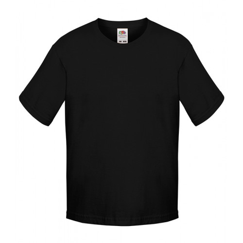 Fruit of the loom Kids Sofspun T Black
