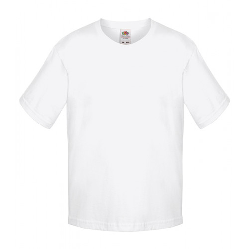 Fruit of the loom Kids Sofspun T White