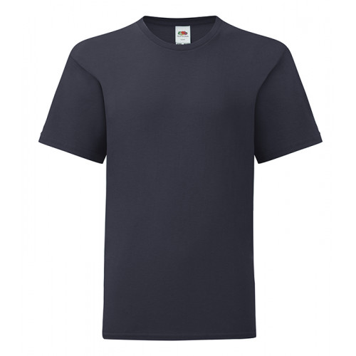 Fruit of the loom Kids Iconic Ringspun T Deep Navy