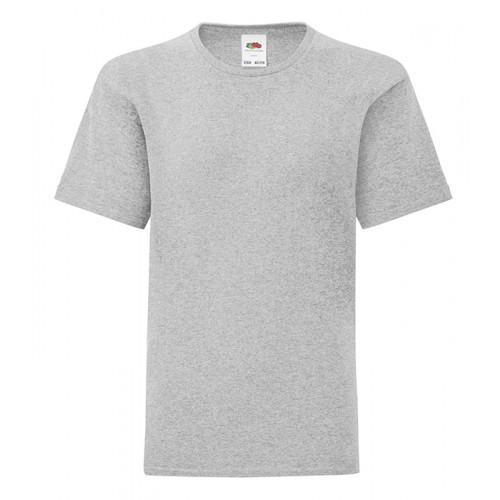 Fruit of the loom Kids Iconic Ringspun T Heather Grey