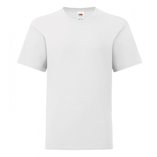 Fruit of the loom Kids Iconic Ringspun T White