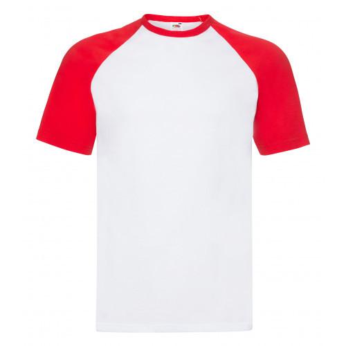Fruit of the loom Short Sl Baseball White/Red