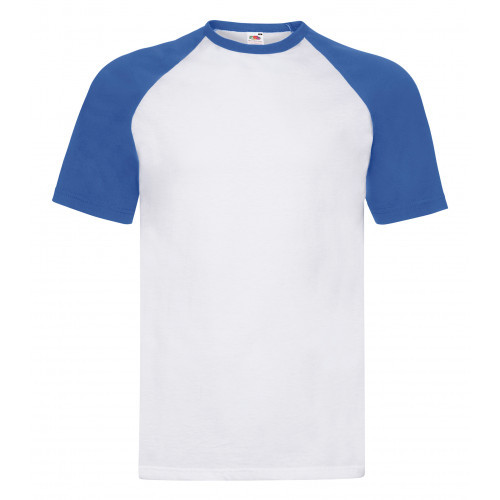 Fruit of the loom Short Sl Baseball White/Royal Blue