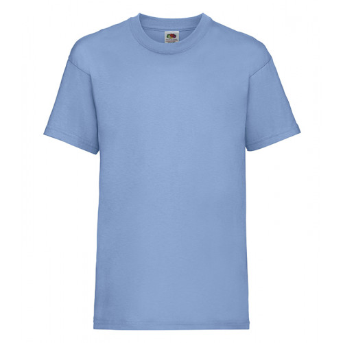 Fruit of the loom Kids Valueweight T Sky Blue