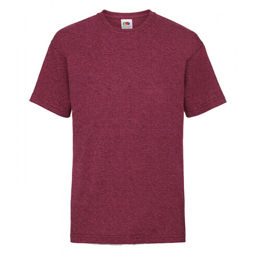 Fruit of the loom Kids Valueweight T Heather Red
