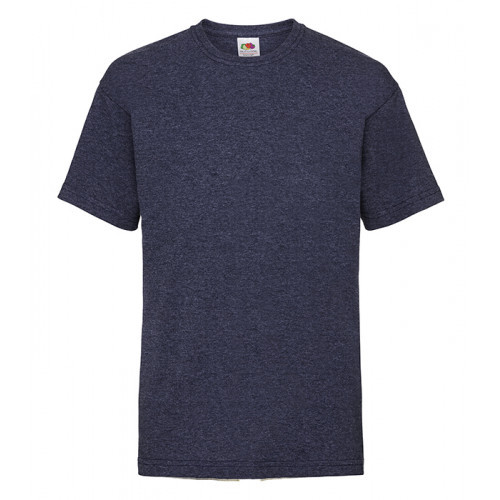 Fruit of the loom Kids Valueweight T Heather Navy
