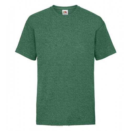 Fruit of the loom Kids Valueweight T Heather Green