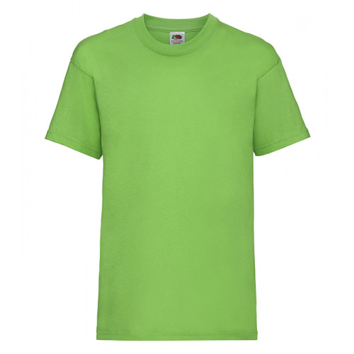 Fruit of the loom Kids Valueweight T Lime