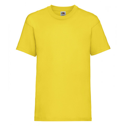 Fruit of the loom Kids Valueweight T Yellow