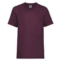 Fruit of the loom Kids Valueweight T Burgundy